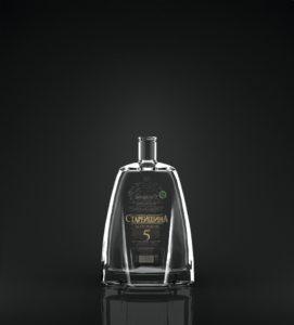 овальная печать на бутылке